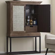 glass door bar cabinet preparing zoom