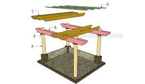 diy pergola plans building a free standing pergola