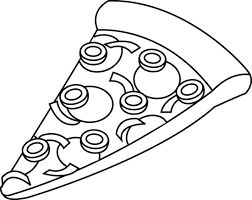 pizza clipart black and white. Pizza Slice Black And White Clipart Intended