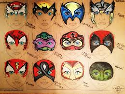Face Painting Superheroes Design Cool Masks Face Paint Design Superhero Face Painting