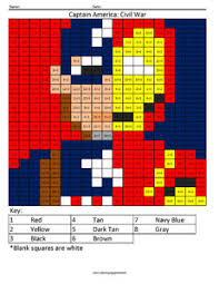 Peter parker, a child and a truck. Superhero Multiplication And Division Coloring Squared
