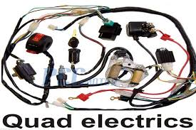 50 70 90 110cc wire harness wiring cdi assembly atv quad coolster 110cc wiring diagram quad at 110cc Wiring Diagram