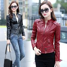 2019 autumn clothing new style leather coat women short korean style locomotive jacket versatile slim fit