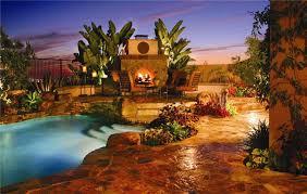 luxury backyard pool designs. Backyard Landscaping Design Ideas-Amazing Near Swimming Pool Fireplaces Luxury Designs O