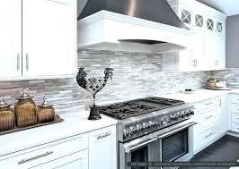 black and white kitchen backsplash white mosaic tile