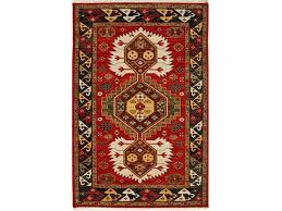 wool rug karter lca 2351 velvet red black olive by jaipur rugs
