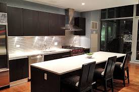 Traditional Kitchen Dark Cabinets Light Granit 602