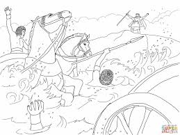 Picture Thanksgiving Moses Coloring Pages 5 Pharaoh S Army Drowned
