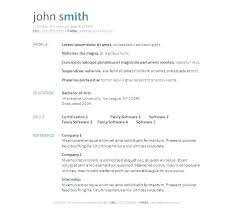 Word Document Resume Templates Word Document Resume Template Free