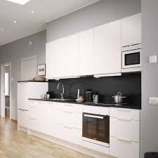 modern kitchen black and white. Black And White Modern Kitchen
