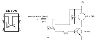 arduino temperature controlled pc fan use arduino for projects arduino temperature controlled pc fan schematic