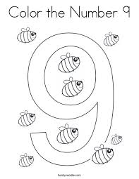 To print out your numbers coloring page, just click on the image you want to view and print the larger picture on the next page. Color The Number 9 Coloring Page Twisty Noodle