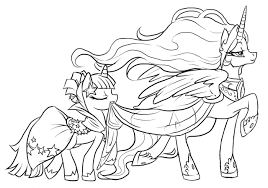 New My Little Pony Coloring Pages Princess Celestia Best And Luna Of