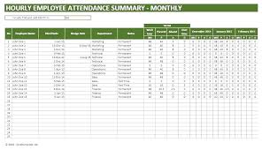 Attendance Tracking Template Custom Employee Vacation Tracker Excel Template 48 Haferco