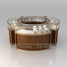 bulletproof round ping mall jewelry display kiosk counter