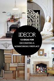 Living Room With Fireplace Decorating 12 Decorating Ideas For Nonworking Fireplace Design Living Room