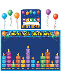 Birthday Graph Bulletin Board Display Set Birthday