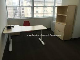 ikea galant office desk. Ikea Bekant Office Desk, Galant File Cabinet And Storage Assembled For A Company New Desk E