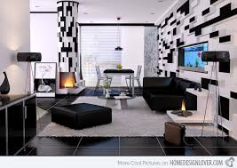 Black And White Home Decor Enchanting Black And White Living Room Decor