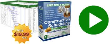 Microsoft Project Construction Scheduling Template Microsoft Project Construction Scheduling Templates