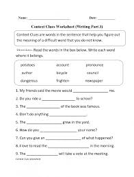 Context Clues Worksheets 3Rd Worksheets for all | Download and ...