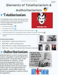 totalitarian leaders elements of totalitarianism authoritarianism by paaj moua
