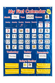 Teacher Buddy Calendar And Weather Pocket Chart Classroom Resources For Learning Organization Supplies Season
