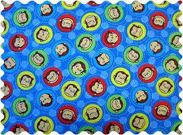 fabric curious george blue fabric yard