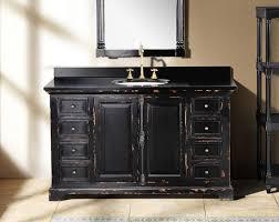 bathroom vanity black. Single Sink Modern Black Bathroom Vanity Under Framed Mirror C