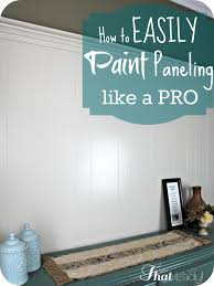 how to easily paint over wood paneling