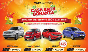 new launched car zestTata Motors launches 100 cash back offers on cars