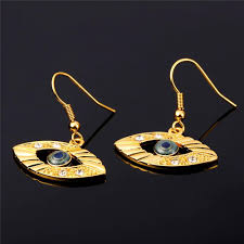 turkish jewelry sets for women gold color fashion jewelry whole trendy eye necklace earrings set