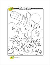 Coloring Pages Easter Free Cross Coloring Page Crayola Download