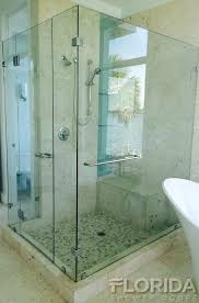 3 8 inch thick tempered frameless shower door with customized panels