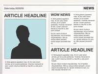 Newspaper First Page Template Editable Powerpoint Newspapers