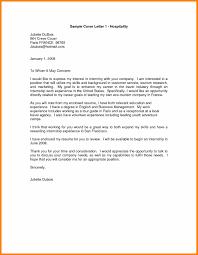 Sample Cover Letter For Hospitality Industry 10 11 Covering Letter For Hospitality Mysafetgloves Com