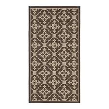 safavieh cy6564 204 courtyard indoor outdoor area rug chocolate cream lowe s canada
