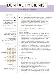 What Is Needed For A Modern Resume Dental Hygienist Resume Example Writing Tips Resume Genius