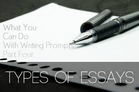 what you can do with writing prompts   four  types of essays