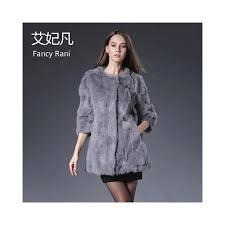real rabbit fur coat women long jacket genuine fur coats female fashion outwears