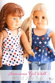 American Girl Clothes Patterns Simple American Girl Doll 48th Of July Top Free Doll Clothes Pattern