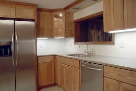 Furniture Oak Cabinets By Kraftmaid Reviews In Brown For Kitchen