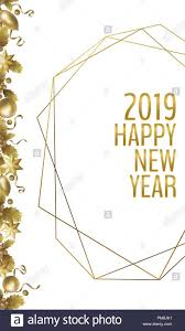 Realistic New Year Golden Banner Greeting Card Holly Berry Gold