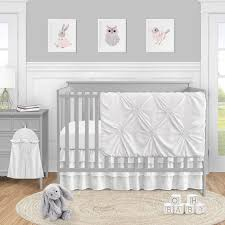 solid color white shabby chic harper