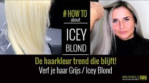Grijs Blond Verven Icey Blond Haartrend 2018