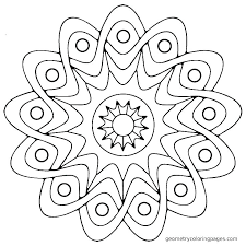 Simple Mandala Coloring Pages Betterfor