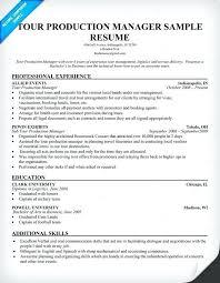 Production Executive Sample Resume Podarki Co