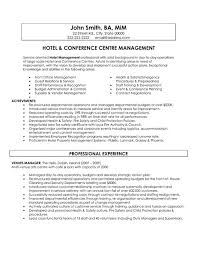 General Manager Hotel Resume Sales Management Lewesmr
