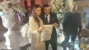 بالصور: هاجر أحمد تحتفل بعقد قرانها... وهذه رسالتها لزوجها