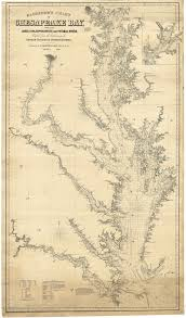 Upper Chesapeake Bay Chart Monumental Chart Of Chesapeake Bay By George Eldridge